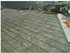 屋根化粧スレート板金サビ