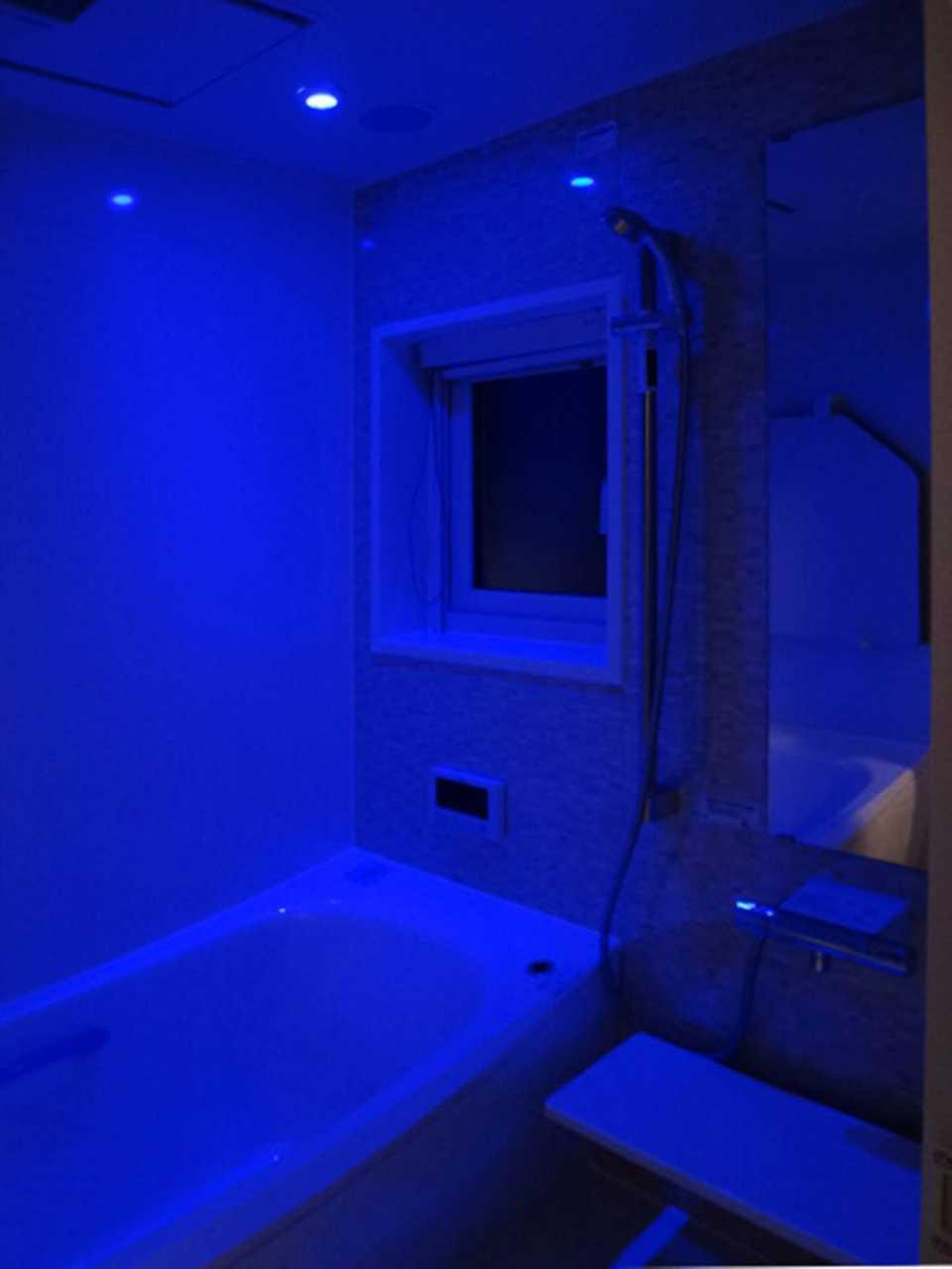 浴室 ブルーライト