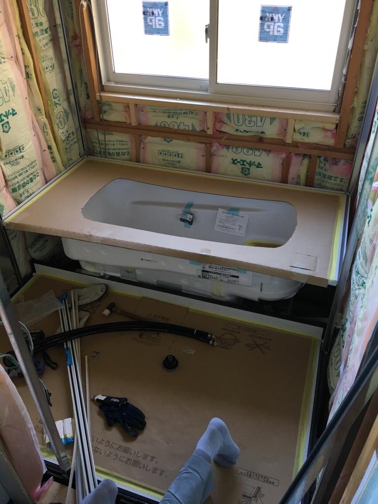 浴室 施工中